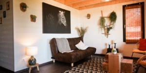 Hébergement insolite zoo_Nuit savane Loire Atlantique_intérieur_décoration